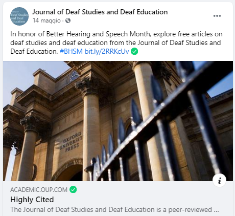 Il Journal of Deaf Studies and Deaf Education